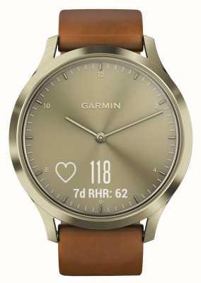 Garmin Vivomove hrプレミアムアクティビティトラッカーgold / leather 010-01850-05