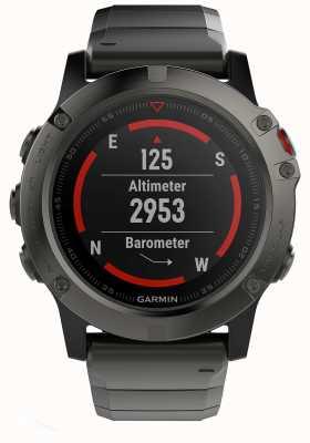 Garmin フェニックス5xスレートグレーサファイアメタル(黒色のスポーツストラップを含む) 010-01733-03