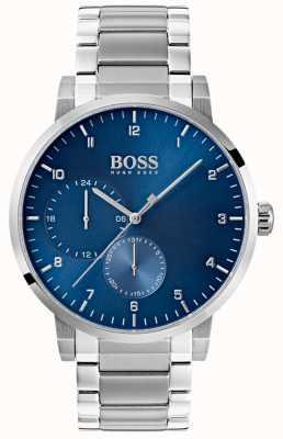 Boss メンズ酸素ブルーウォッチステンレススチールブレスレットサンレイダイヤル 1513597
