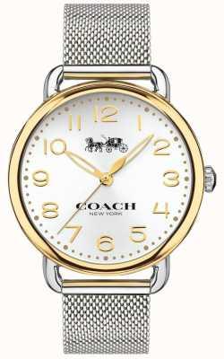 Coach レディースデランシーステンレスメッシュブレスレットゴールドトーンケース 14502802