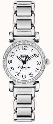 Coach レディースマディソンウォッチスチールブレスレットホワイトダイヤル 14502851