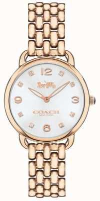 Coach レディースデラックススリムバラトーンブレスレット腕時計シルバーダイヤル 14502783
