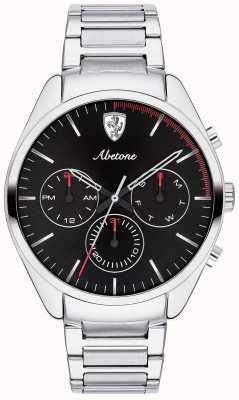 Scuderia Ferrari メンズabetoneステンレススチールブレスレット腕時計ブラッククロノ 0830505