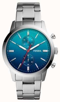 Fossil メンズタウンズマン腕時計ブルーombreダイヤルステンレススチールブレスレット FS5434