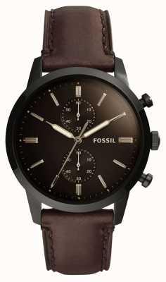 Fossil メンズ44mmタウンズマンレザーストラップ FS5437