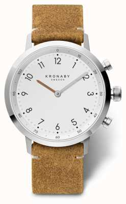 Kronaby 41mm北欧ブラウンスエードレザーステンレスA1000-3128 S3128/1