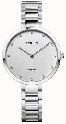 Bering クリスタルセットのチタンケースとブレスレット 11334-770