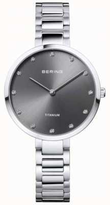 Bering クリスタルセットチタングレーケースとブレスレット 11334-772