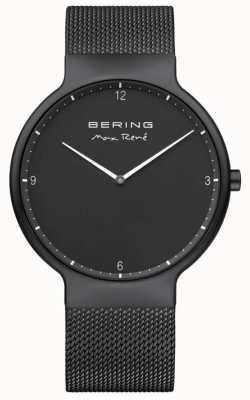 Bering マックスレネブラックダイヤルホワイトマーカブラックIPメッキメッシュストラップ 15540-123
