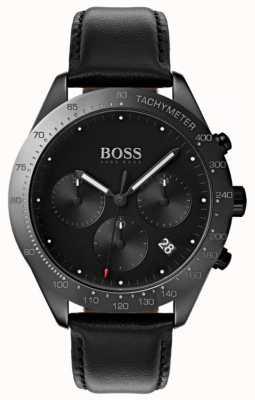 Boss タレントクロノグラフブラックダイヤル日付表示ブラックレザー 1513590