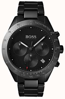 Boss メンズタレントブラックダイヤル日付表示ブラックipメッキブレスレット 1513581