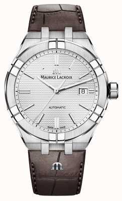 Maurice Lacroix アイコンオートブラウンレザーウォッチ AI6008-SS001-130-1