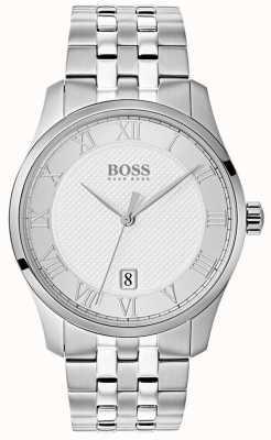 Hugo Boss メンズマスターステンレススティールシルバーダイヤルウォッチ 1513589