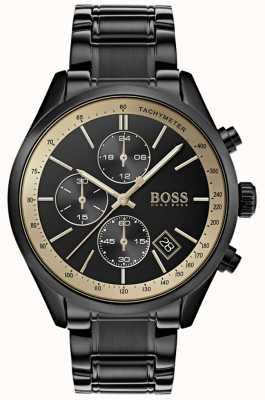 Hugo Boss メンズグランプリブラックIP /ゴールドアクセントウォッチ 1513578