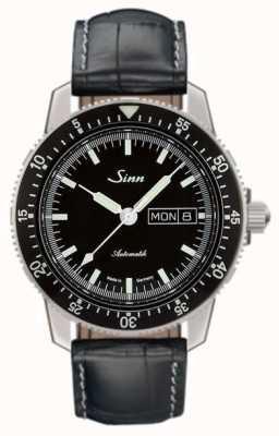 Sinn 104オリジナルのパイロットウォッチアリゲーターエンボスレザー 104.010-BL44201851001225301A