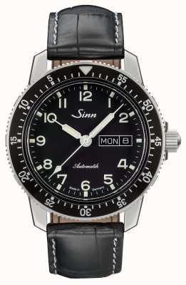 Sinn 104クラシックパイロット腕時計ブラックレザーストラップ 104.011 LEATHER