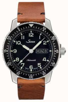 Sinn 104クラシックパイロットウォッチライトブラウンヴィンテージカウハイド 104.011-BL50205002401A