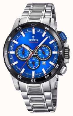 Festina 2018クロノバイクの腕時計ステンレススチールブレスレット F20352/2