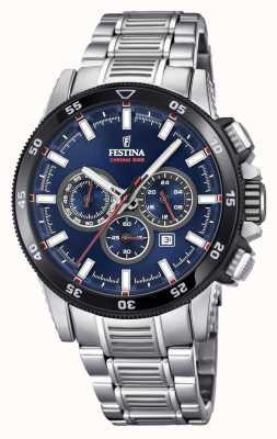 Festina 2018クロノバイクの腕時計ステンレススチールブレスレット F20352/3