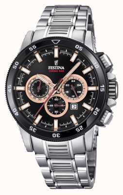 Festina 2018クロノバイクの腕時計ステンレススチールブレスレット F20352/5