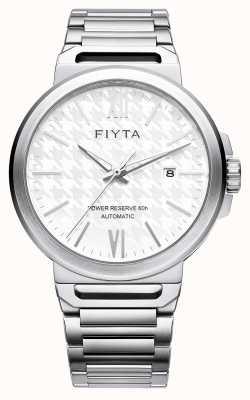 FIYTA ソロ自動ステンレススチールホワイトダイヤルサファイア GA852000.WWW