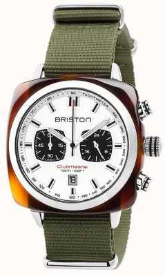 Briston クラブマスターのスポーツジャングルホワイトダイヤル 17142.SA.TS.2.NGA