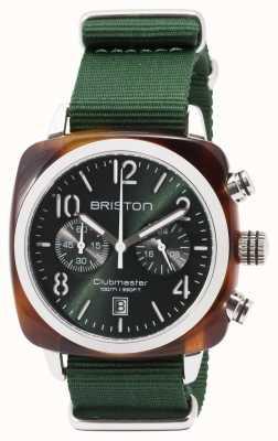 Briston クラブマスターのスポーツアイコングリーンストラップ 17142.SA.TS.10.NBG