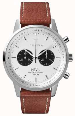 Triwa メンズラブネヴィルは、茶色の縫製されたクラシック2 TR.NEST119-TS010212