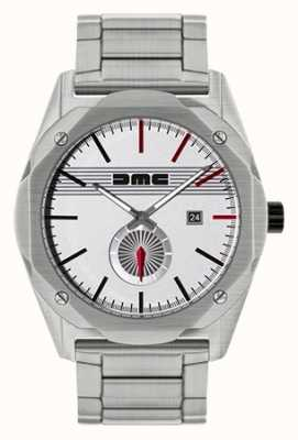DeLorean Motor Company Watches 夢の鋼製ステンレススティールシルバーダイヤル DMC-4