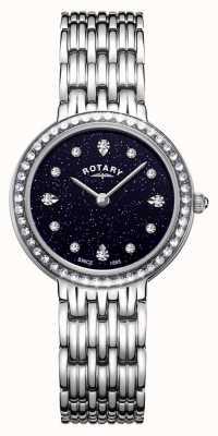 Rotary 女性用ケンジントンブルースパークルダイヤルステンレス LB00400/67