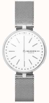 Skagen Signature接続のスマートな時計ステンレスメッシュ SKT1400