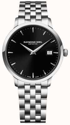 Raymond Weil Mens toccataステンレススチールブラックダイヤル 5488-ST-20001