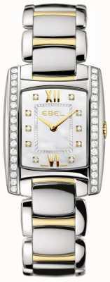 EBEL 女性用ブラジリアツートーン18Kイエローゴールドダイヤモンドセット 1215769