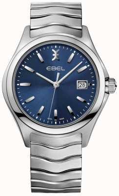 EBEL メンズウェーブブルーダイヤルステンレススチールブレスレットデイト表示 1216238