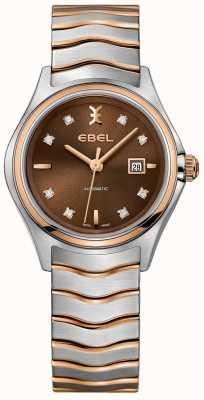 EBEL 女性の自動波ダイヤモンド日付表示ヘーゼルナッツダイヤル 1216265