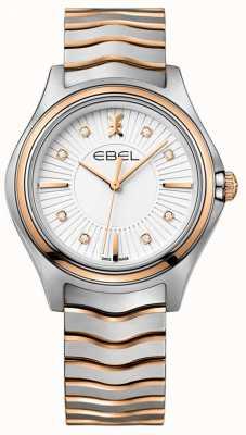 EBEL 女性のダイヤモンドパイルサンレイダイヤル2トーンバラゴールド 1216306