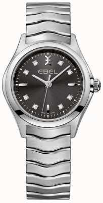 EBEL 女性のダイヤモンド無煙炭ダイヤルステンレススチールブレスレット 1216316