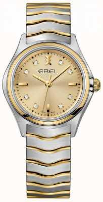 EBEL 女性のダイヤモンドのシャンパンダイヤル2トーンイエローゴールド&シルバー 1216317