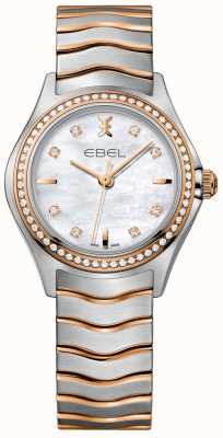 EBEL パールダイヤルの2つのトーンのブレスレットの女性のダイヤモンドの波の母 1216325
