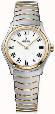 EBEL 女性のスポーツクラシックホワイトダイヤル2トーンブレスレットステンレス 1216387A
