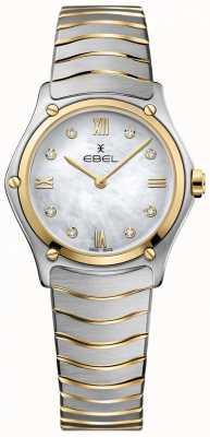 EBEL パールダイヤルの2つのトーンの女性のスポーツクラシックダイヤモンドの母 1216388A