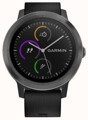 Garmin Vivoactive 3時間マルチスポーツトラッカーブラックラバーブラックベゼル 010-01769-10