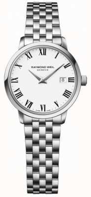 Raymond Weil レディーストッカータステンレススチールブレスレットホワイトダイヤル 5988-ST-00300