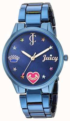 Juicy Couture レディースブルースチールブレスレット| |ブルーダイヤル JC-1017BMBL