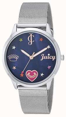 Juicy Couture レディースシルバーメッシュブレスレット| |ブルーダイヤル JC-1025BMSV