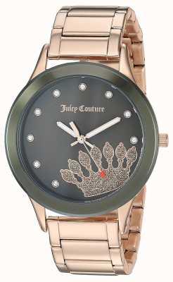 Juicy Couture レディースローズゴールドステンレス|ブラッククラウンダイアル JC-1052OLRG