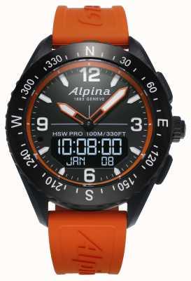 Alpina Alpinerxスマートウォッチオレンジラバーストラップ AL-283LBO5AQ6