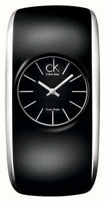 Calvin Klein グロスレディース全てのブラックウォッチ K6093101
