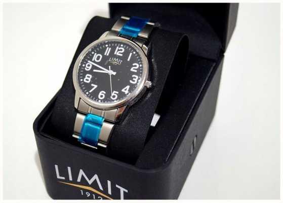 Limit |メンズ|ブラックダイヤル|ステンレスブレスレット| 5648