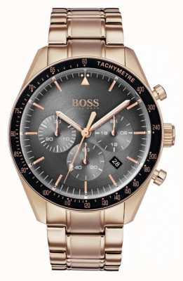 Hugo Boss メンズトロフィーグレークロノグラフダイヤルバラゴールドトーン 1513632